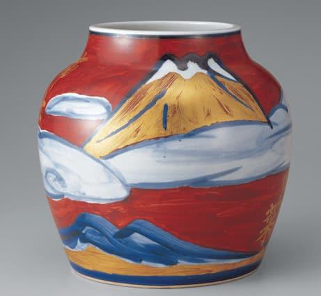 photoA blue, red and gold interpretation of Mt. Fuji by Yuzo Kondo (1977)