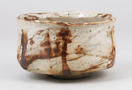 "photoMarbled Shino tea bowl known as ""Moko"""