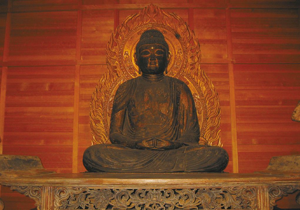 photoSeated statue of Amida Nyorai (Important Cultural Property)