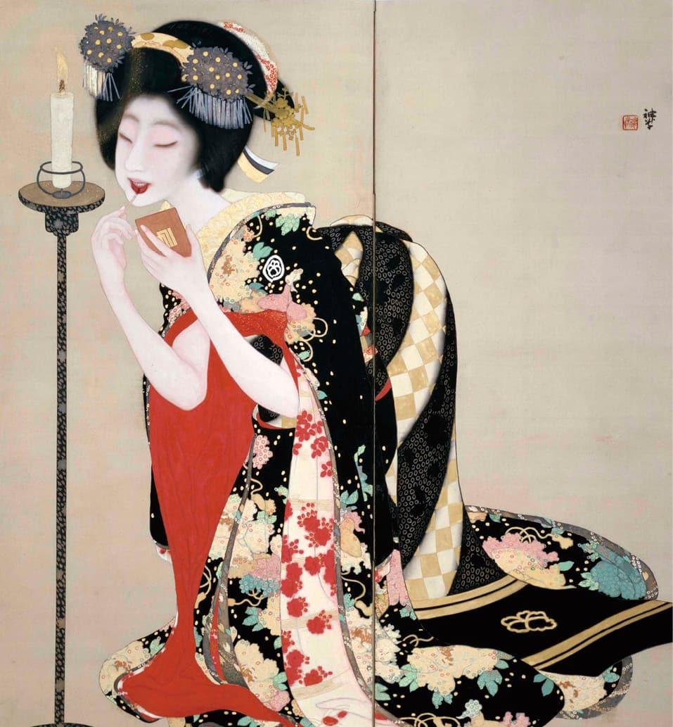 写真岡本神草 口紅(1918年)