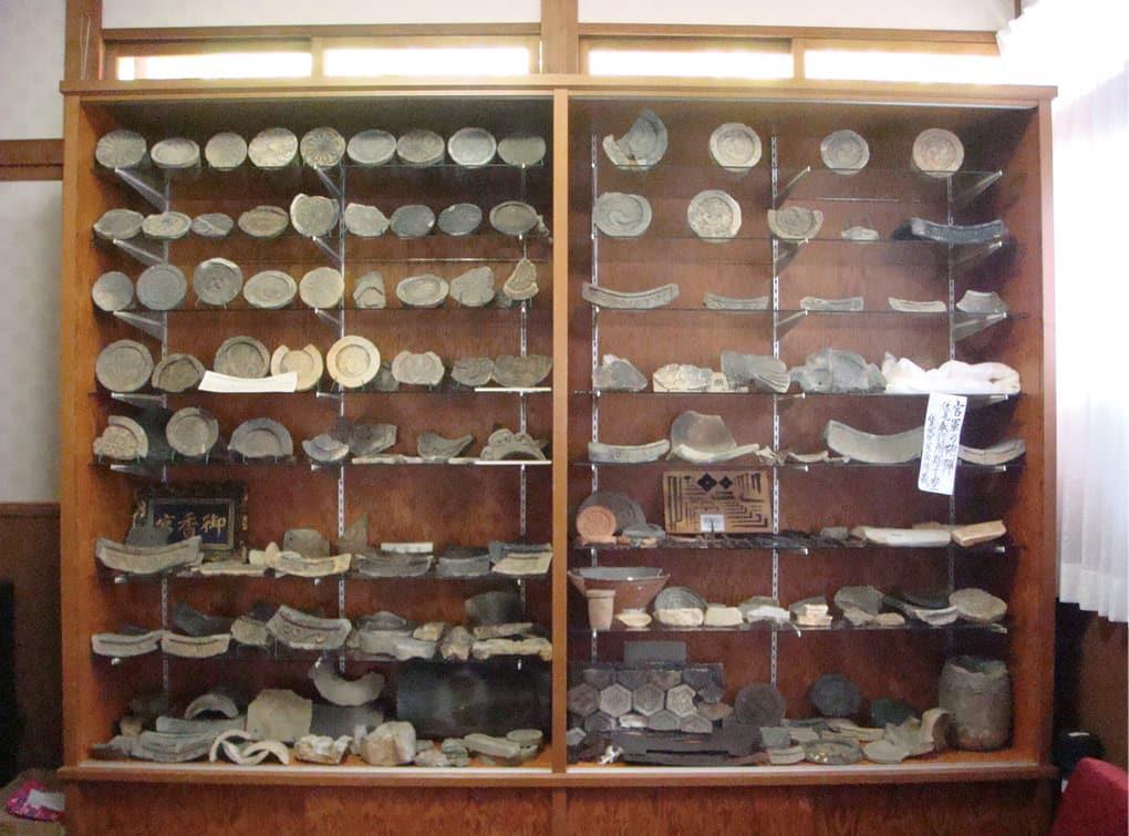 写真:伏見城跡出土遺物展示室