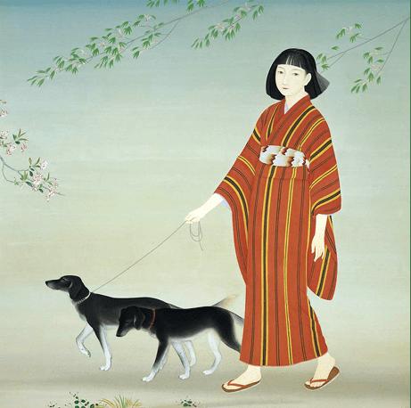 写真菊池契月 散策(1934年)