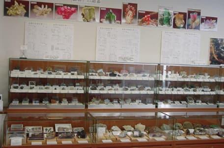 写真鉱物の展示