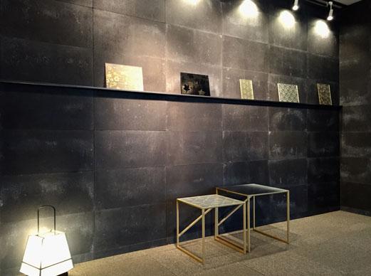 写真着物の心を現代の空間に生かす【絹ガラス】ショールームを併設